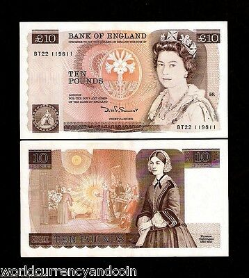 GREAT BRITAIN 10 POUNDS P379 b 1988 QUEEN AU FLORENCE NIGHTINGALE MONEY BANKNOTE