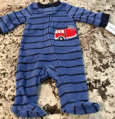 NWT CARTER/'S BABY BOY COOL DUDE 1 PC FLEECE PENGUIN FOOTED SLEEPER NEWBORN /& 3 M