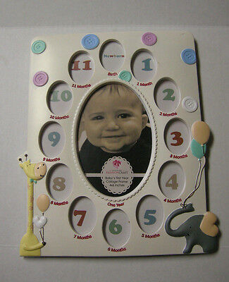 Baby Picture Frame, 12 Month Collage by Gifts By Fashion Craft, Brand New