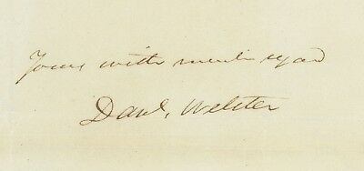 Famous Statesman Daniel Webster Autograph Letter Signed ALS Re: Referees in Case