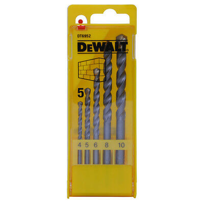DeWALT DT6952 4-10MM 5 Piece Professional Carbide Tipped Masonry Drill Bit Set