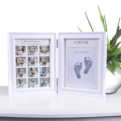 Sweet Baby Handprint Footprint Kit Photo Frame for Newborn Babys Photo Album