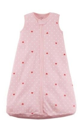 Boppy Pink Baby Girl 6-9 Months Zipper Bunting Sleep Sack Warm Soft Cotton NWT