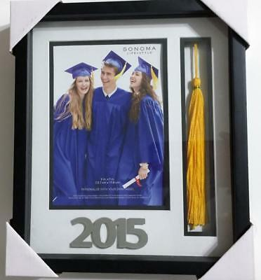 Picture Frame Photograph Photo Picture Graduation NEW Tassel 2015 Sonoma Easel
