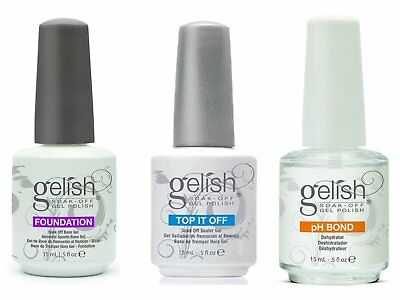 GELISH-Harmony-Soak-Off-Gel-Nail-Polish-FOUNDATION-Base-amp-Top-Coat-PHbond 15ml