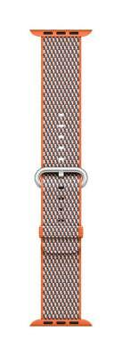 Apple Mqve2Am/a 38Mm Spicy Orange Woven Nylon Stainless Steel Buckle Watch Band