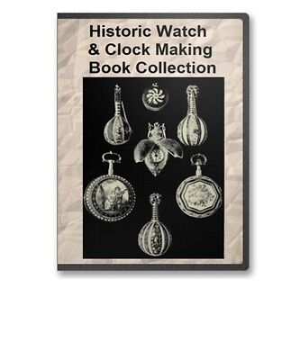 23 Old Watchmaking Watch Clock Making Horology Books on CD - B329