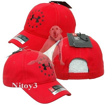 66e9dcdf725 UNDER ARMOUR FREEDOM Logo Baseball Cap-Hat Men One Size Red -  18.95 ...