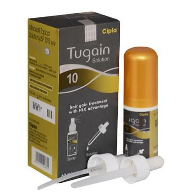Tugain 10% Minoxidil by Cipla Hair Loss Baldness Regrowth Promoter For Men 60 ml