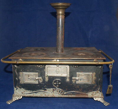 Antique German Cook Stove Miniature Childs Toy With Working Oil Burner Marklin
