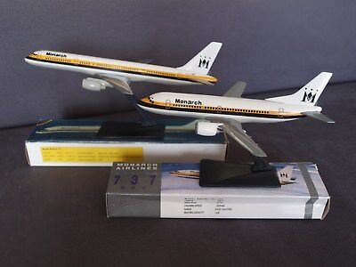 Monarch Airlines B757-200 & B737-300 Push Fit Models - New BUT Damaged Boxes