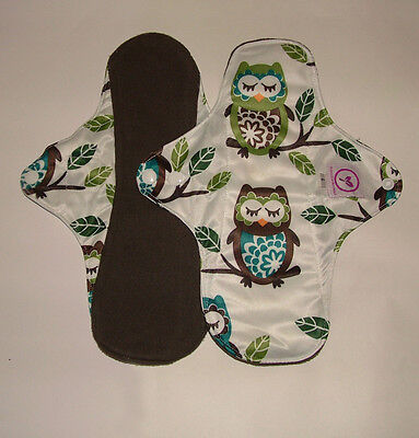 Reusable, Bamboo Charcoal, Heavy Flow Cloth Sanitary Pads + FREE WET BAG