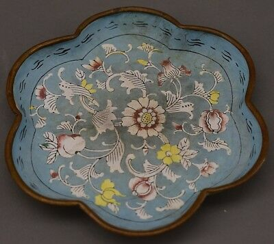 Small Chinese Cloisonné Enameled Plate