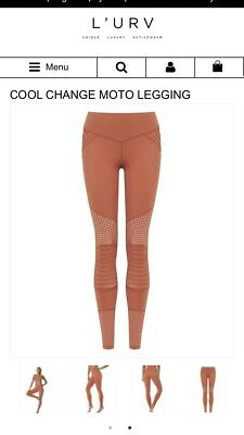 fc310591bcafd1 100$ Lurv Cool Change Moto Leggings XS/S Copper Color. Carbon38 Alo yoga