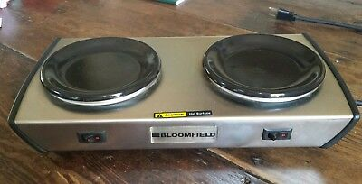 Bloomfield Commercial Two Burner Electric Coffee Warmer Hot Plate  Model 4006606