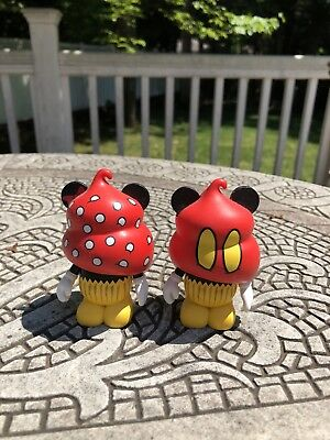 """Disney Vinylmation 3"""" Bakery Series Mickey And Minnie Mouse Cupcakes"""