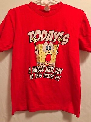 Vtg  2008 Original Spongebob Squarepants T-Shirt From Nickelodeon  Big Kids 2Xl