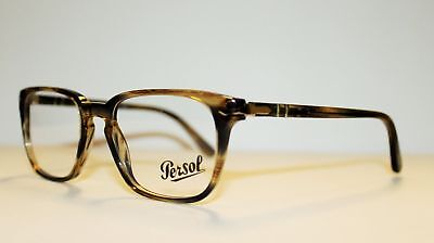 NEW ORIGINAL PERSOL 3117-V 1049 Striped Brown Grey Unisex Eyeglasses 53mm  ITALY