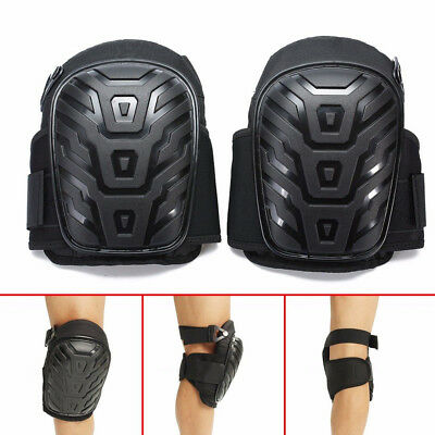 2pcs Durable Gel Filled Knee Leg Pads Silicone Protect with Adjustable Strap