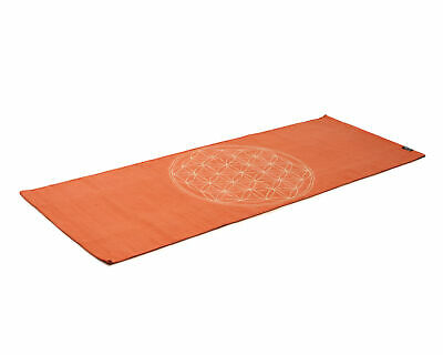Yogateppich Cotton Rug - Flower Of Life - Mocca/cream Beige von Yogishop