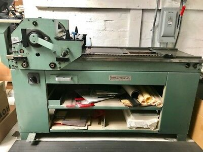 FOR SALE: FAG Swiss Proof 40 Letterpress **EXCELLENT CONDITION**