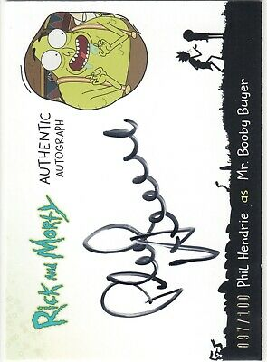 2018 Cryptozoic Rick And Morty Auto Phil Hendrie as Mr. Booby Buyer 097/100