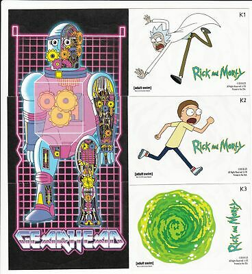 2018 Cryptozoic Rick And Morty Stickers Complete Hobby Set (3 Cards)