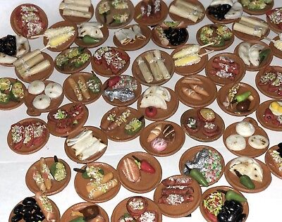 Miniature Dish Mexican Food  / Minature Platillo Mexicano Magnet Folk Art 4 Pc