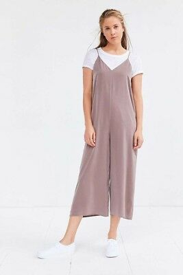8ff2faff6 Sillence + Noice Urban Outfitters Jumpsuit Satin Slip Culotte Black Size M