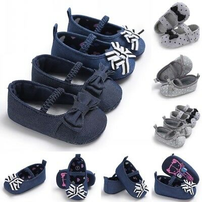Newborn Infant Toddler Baby Girl Mary Jane Soft Sole Crib Shoe Classic Prewalker