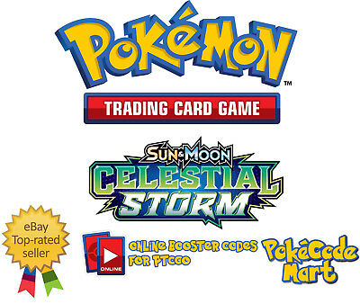 Pokemon Sun & Moon Celestial Storm Online Booster Code Cards for PTCGO FAST