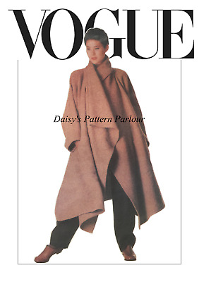 Vintage Vogue Sewing Pattern Issey Miyake Coat 1476 Retro Plus 12 14 16 18 20 22