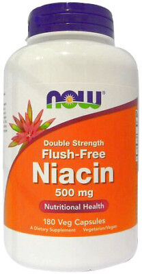180g, 18,89 EUR/100g NOW Foods Flush-Free Niacin, 500mg - 180 vcaps