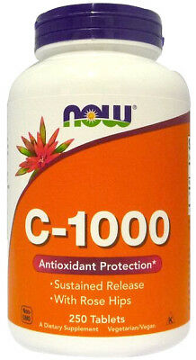 250g, 11,12 EUR/100g NOW Foods Vitamin C-1000 with Rose Hips - Susteined Releas