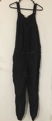 DKNY pure silk black sleeveless jumpsuit NWOT size 6 (a11)