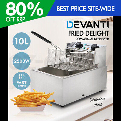 5-Star Chef Commercial Electric Deep Fryer Chip Cooker Stainless Steel