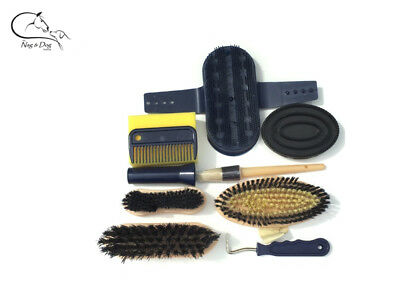 Equerry Adult Grooming Kit 9 Pieces Horse & Pony Choice of Colours FREE DELIVERY
