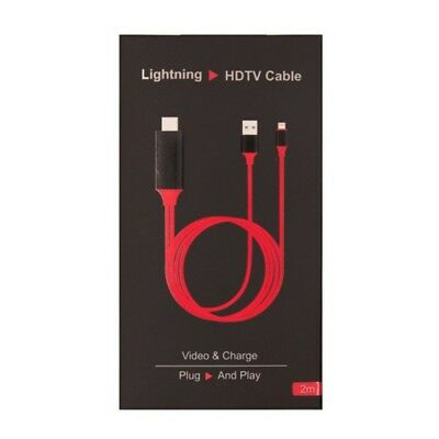 IPhone 5/6/6S/7/8Plus/X 1080P 2M 8 Pin Lightning to HDMI TV AV Adapter Cable HOT