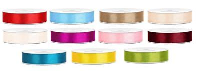 Double sided satin ribbon crafts florist decorations 12mm