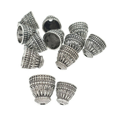 10pcs Antique Silver Tassels Cap Beads Pagoda  Jewelry Findings DIY Alloy Craft