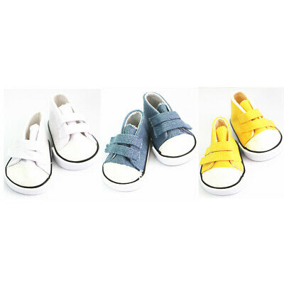 """Sticky Strap Canvas Shoes for 18"""" American Girl Our Generation My Life Dolls"""