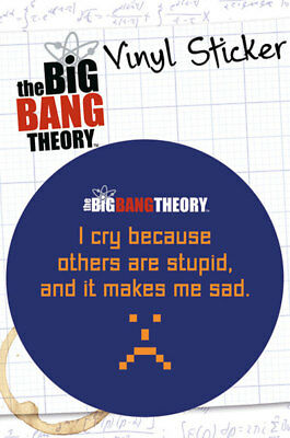 Big Bang Theory, The - Stupid - Sticker Aufkleber - Größe Ø9 cm