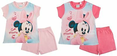 Disney Minnie Mouse Baby Girls Short Pyjamas Infants Shortie Summer PJs Size
