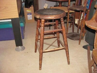 CIRCA LATE 1800's HEYWOOD BROS. & WAKEFIELD ANTIQUE STOOL  w/RARE OREGON LABEL