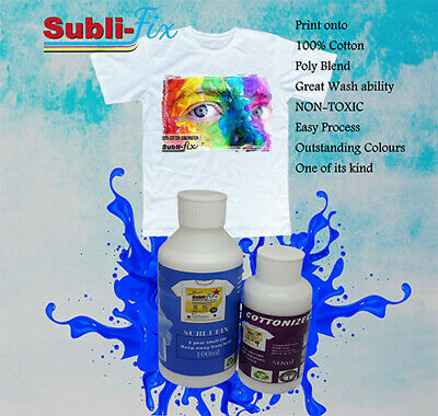 A4 A3 A2 A1 A4 Dye Sublimation Subli Multi Fix 100% Cotton fluid spray coating
