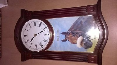 Red Rum collectors wall clock with certificate