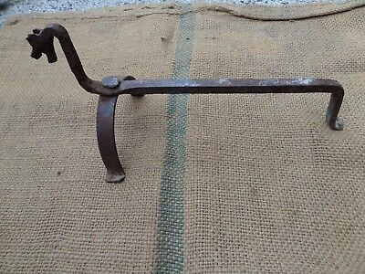 Antique Fireplace Tool Horse Wrought Iron Hand Forged