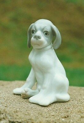 Vintage ? ceramic porcelain puppy dog pointer figurine Royal Copenhagen copy?