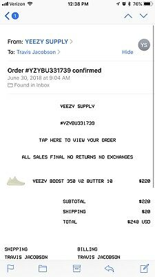 best service 1ddad a0276 YEEZY SUPPLY ORDER DS Adidas Yeezy Boost 350 V2 Butter Size 10 100%  AUTHENTIC