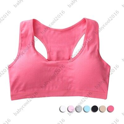 Puberty Girls Training Bra Teenage Sports Bra Padded Crop Top Children Underwear
